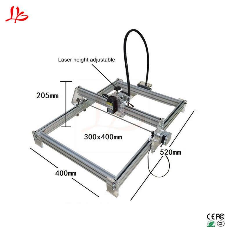 15 watt Metall cnc kennzeichnung maschine DIY laser gravur maschine 3040 mit höhe einstellbar