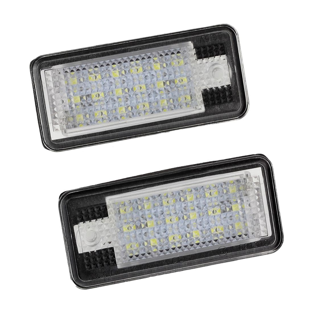 AUTO 2x 18 LED License Number Plate Light Lamp For Audi A3 S3 A4 S4 B6 A6 S6 A8 S8 Q7