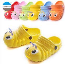 2018 musim panas bayi sandal anti slip sepatu anak laki-laki dan perempuan sandal ulat indah bahan EVA anak taman sepatu