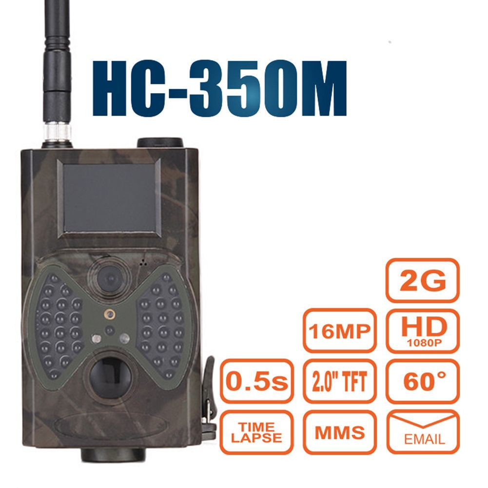 HC350M Wild Hunting Camera Trail Night Vision Trap Infrared Animal Camcorder Wildlife Forest Camera 2G MMS 16MP