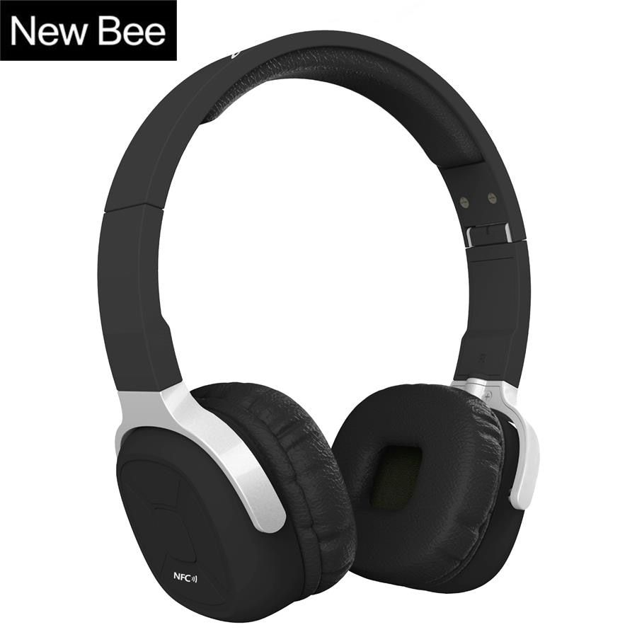 New Bee Folder Bluetooth Headphone Portable Bluetooth Headset Sport Earphone with Mic <font><b>Pedometer</b></font> Earbud Case for Phone PC TV