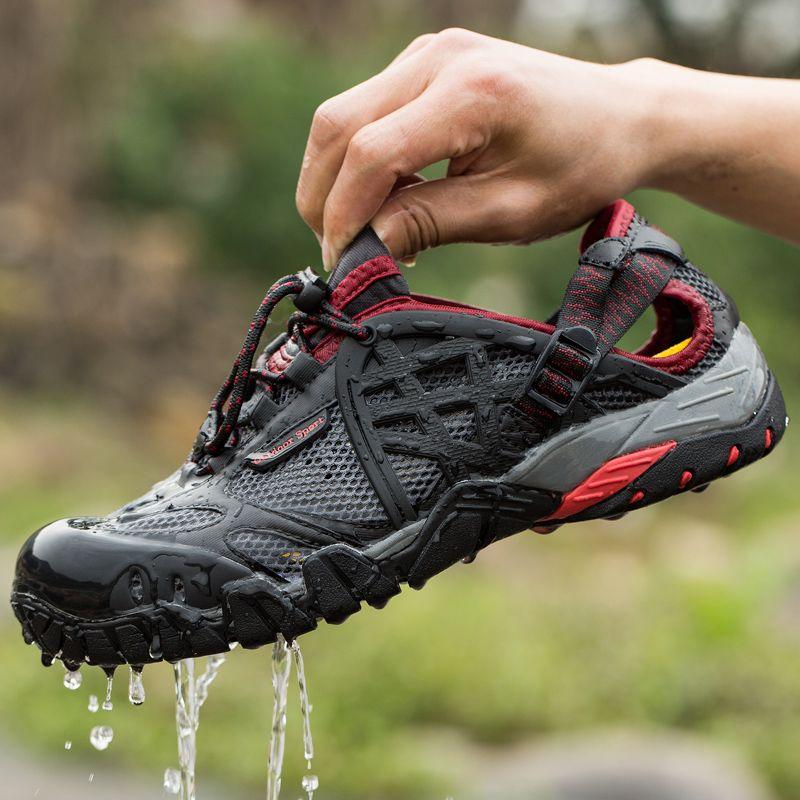 2017 Hommes En Plein Air Sneakers Respirant Randonnée Chaussures Grande Taille Hommes Femmes Randonnée En Plein Air Sandales Hommes Trekking Trail Eau Sandales