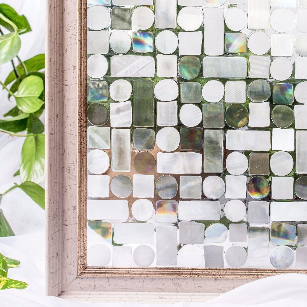CottonColors Films d'intimité de fenêtre Premium sans colle 3D statique décoratif teinte Film fenêtre verre autocollants 45x200 cm