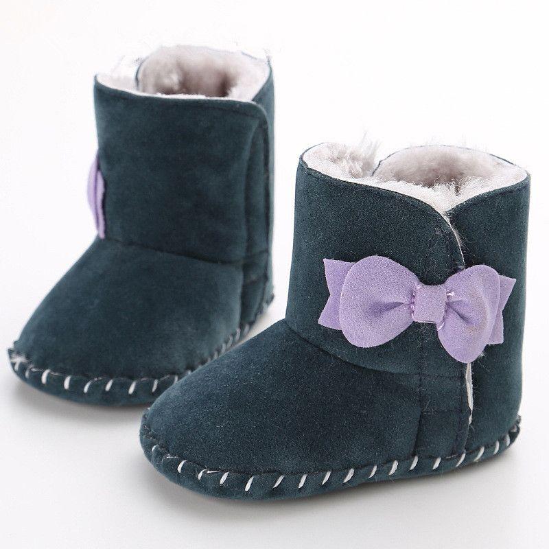 Botines Bebé Botas Primeros Caminante del bebé Bebé Femenino Inferior Suave antideslizante Zapatos de Terciopelo botas de Invierno Botas Zapatos 0-1 Años WMC903LL