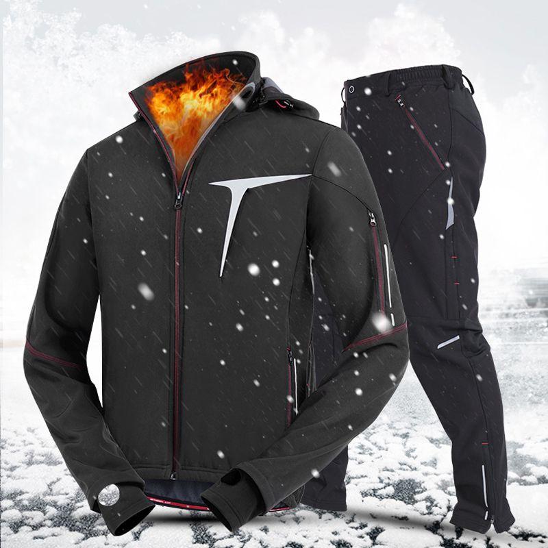 Radfahren Kleidung tragen Männer Fahrrad Rennrad Mantel Pro Winter Herbst Winddicht Männlichen Langarm Jersey Jacke Hose Hose Anzug