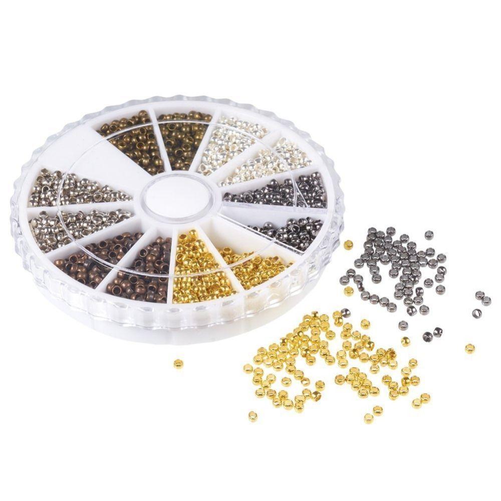 Pandahall 3000 teile/schachtel Schlauch Crimp End Beads Armband Lose Perlen Spacer Endkappen DIY Schmuck Machen Entdeckungzusätze 6 Farben
