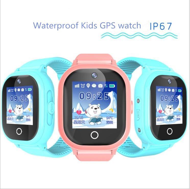Новинка 2017 GPS отслеживания часы для детей IP67 Водонепроницаемый GPS Смарт-часы плавание камеры детей часы touch Экран sos-вызов td-05