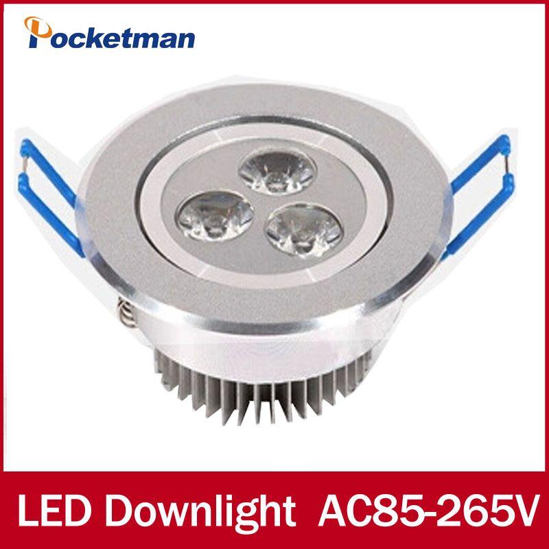 Led-deckenleuchte Einbaustrahler licht 9 Watt 12 Watt 15 Watt Led-strahler Ac85-265v Cold White Warm weiß Kostenloser versand