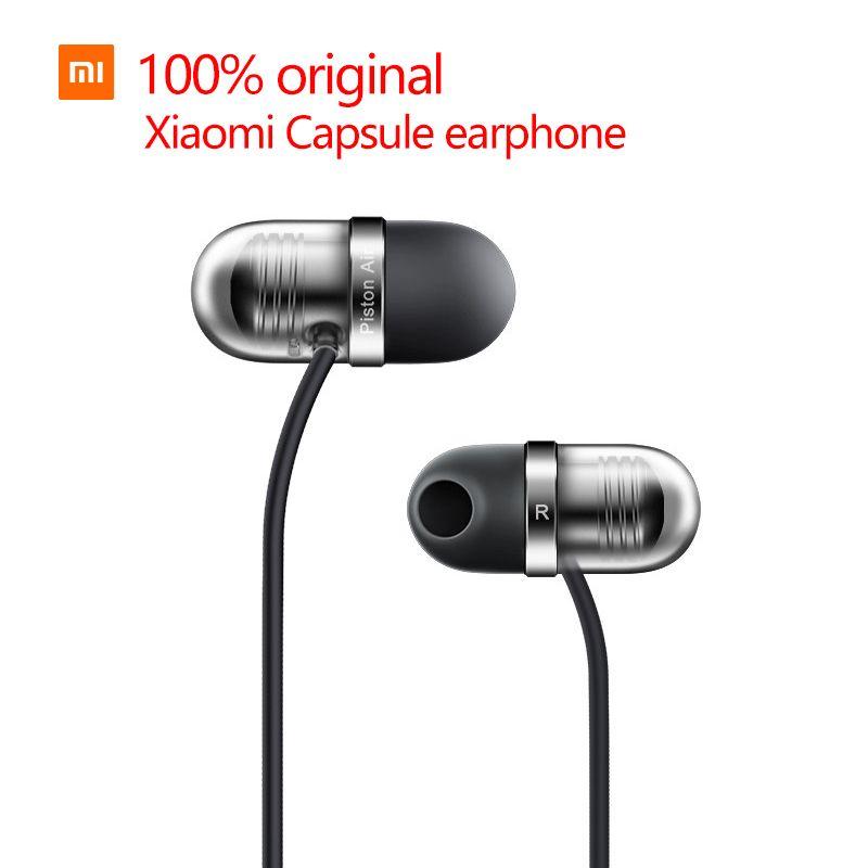 100% d'origine Mi Xiaomi capsule casque En général mobile téléphone casque tablet de course bouchons d'oreilles Ligne par fil xiaomi écouteur