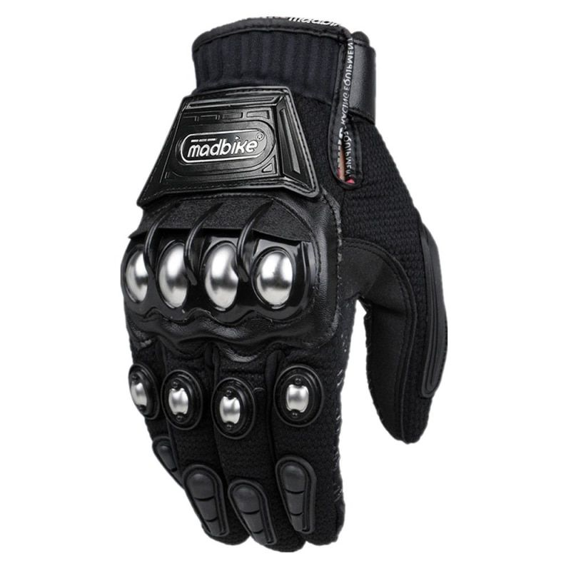 Alloy Steel Madbike Motorcycle Gloves Racing Gloves Motorbike Gloves Protective Guantes Luvas Para <font><b>Motor</b></font> Black Blue Red MLXL XXL