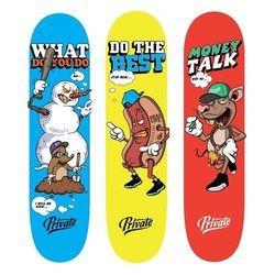 Pro Skateboard Deck 7.875 8 Inch Kanada Maple Kayu Skate Deck dengan 1 PC Amplas Patins Jalan Skateboarding