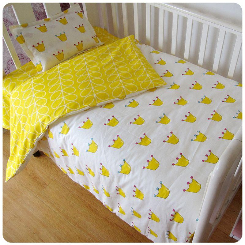 Freies shipp 3 Stücke 100% Baumwolle Krippe Bettwäsche Kit Cartoon Baby Bettwäsche Set Enthält Kissenbezug Bettlaken Bettbezug Ohne füllstoff