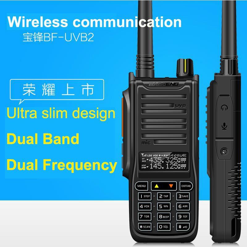 Nouveau Baofeng UV B2 Talkie Walkie 5-10 W Haute Puissance De Poche Jambon Two Way Radio VHF UHF UV Dual Band Émetteur-Récepteur Pour La Chasse