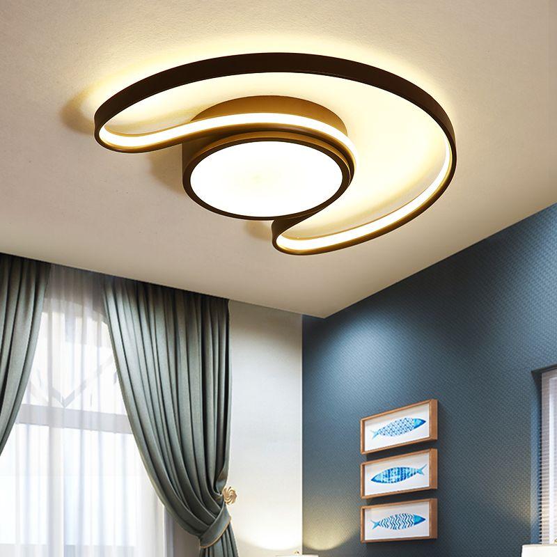 VeiHao Modern LED Minimalist Moon Children's Room Ceiling lights for Bedroom Creative Study Room Decoration Ceiling lamp