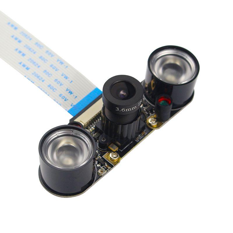 Raspberry Pi 3 Module de Caméra 5MP OV5647 Nuit Vision Caméra + 2 pcs Sensible Infrarouge Lumière compatible pour Raspberry Pi 2 caméra