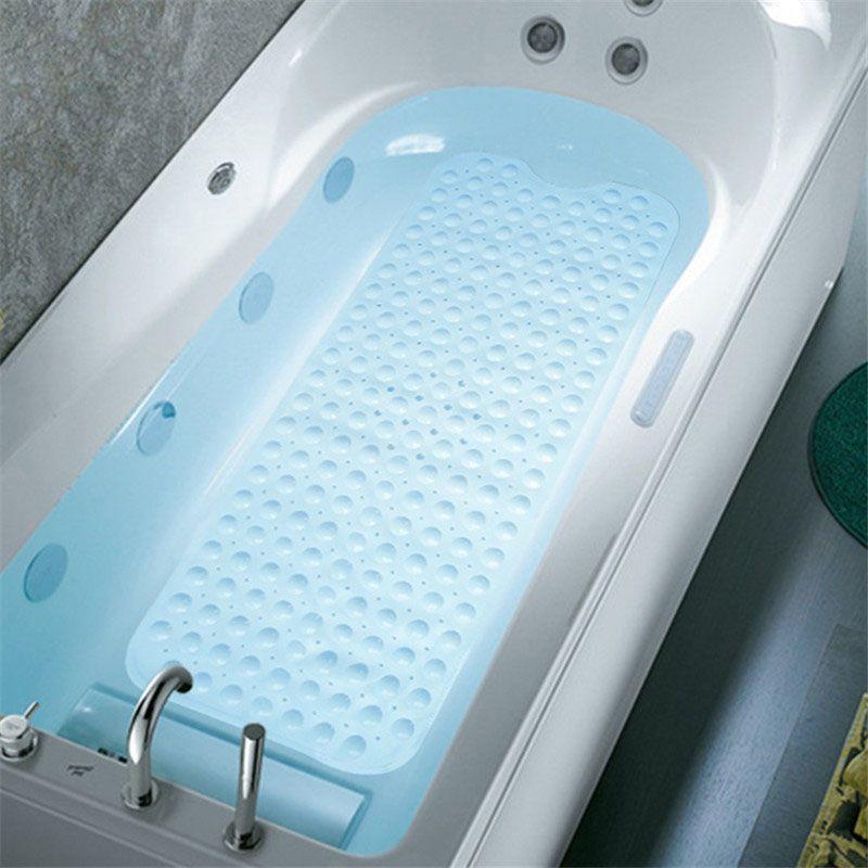 Rectangle 40x100/39x69 cm PVC anti-dérapant tapis de bain doux salle de bains tapis de Massage ventouse antidérapant tapis de baignoire