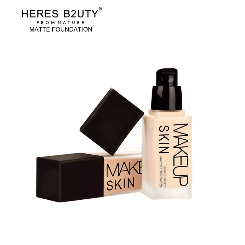 Brand HERES B2UTY Makeup Base Liquid Foundation Longlasting LongstayWaterproof Concealer Whitening Moisturizer Oil-control 30ml