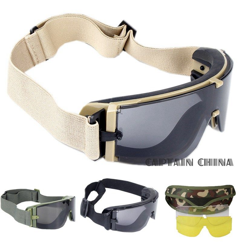 Military Airsoft Tactical Goggles <font><b>Army</b></font> Tactical Sunglasses Glasses <font><b>Army</b></font> Paintball Goggles