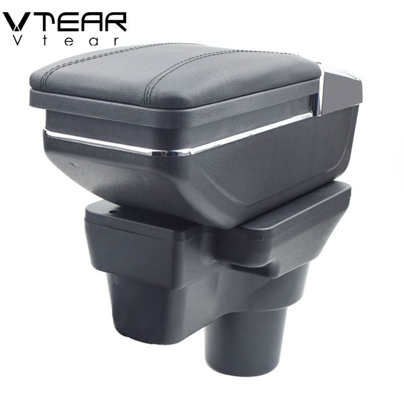 Vtear For Hyundai solaris 2/accent/Verna armrest box central Store content box cup holder ashtray interior accessories 2017/2018