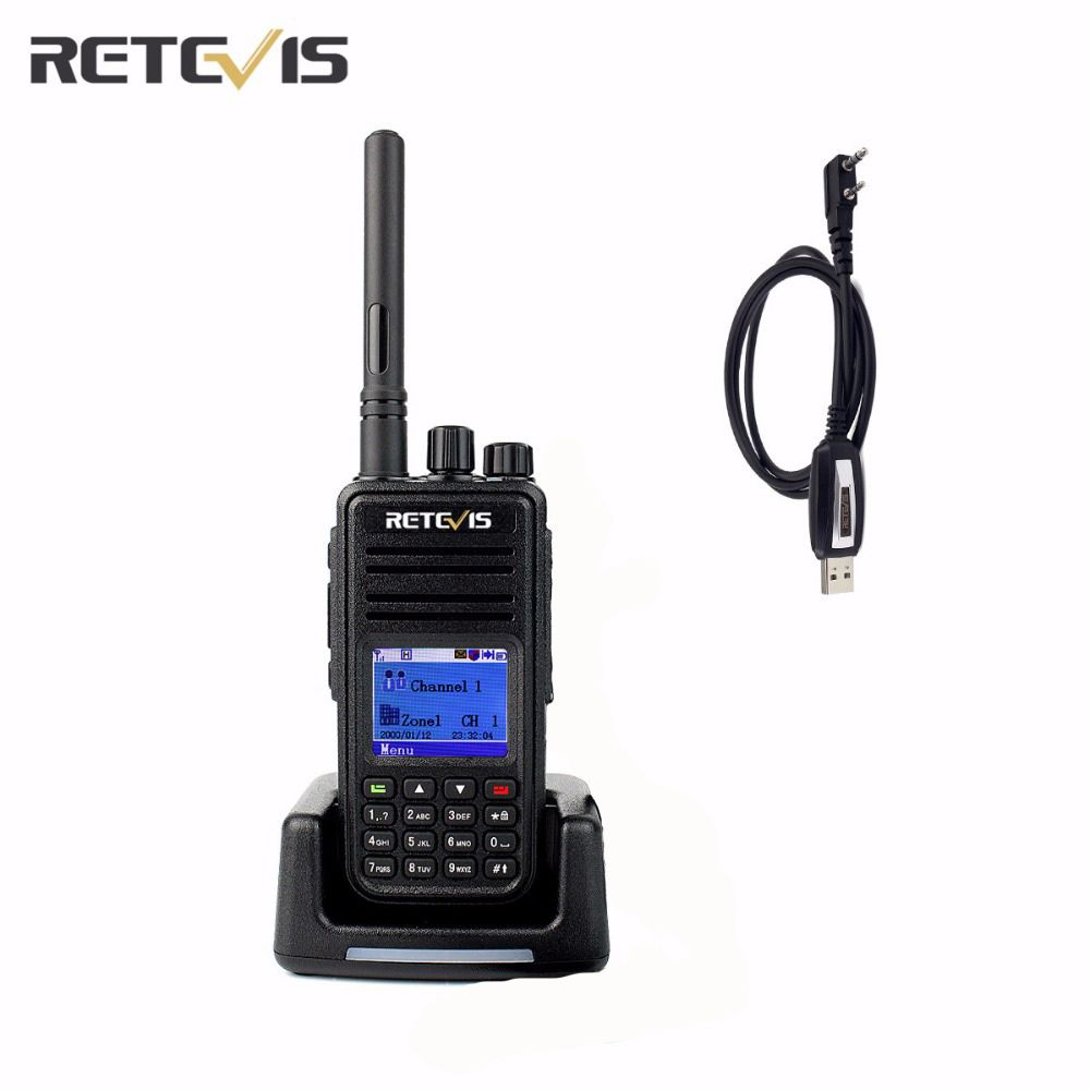 DMR Digital (GPS) Professional Retevis RT3 Walkie Talkie 1000CH VHF/UHF CTCSS/DCS DTMF Portable Two Way Radio+A Free Cable A9110