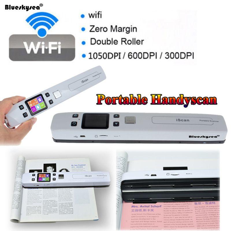 Iscan02 sans fil WIFI Portable Scanner A4 taille JPEG/PDF haute vitesse Document Scanner 1050 DPI Portable USB Scanner A4 lecteur de papier