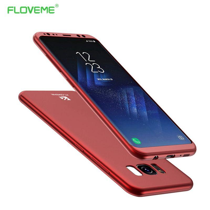 FLOVEME 360 Grad Für Samsung Galaxy S8 Voller Schutz abdeckung Für Samsung S8 Plus Fällen Telefon PC TPU Flip Abdeckung