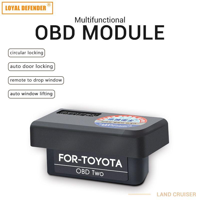 Voiture auto OBD plug and play fermeture de fenêtre et verrouillage de la vitesse et miroir pliant Auto OBD2 commutateur pour cruiser2012-2017 terrestre