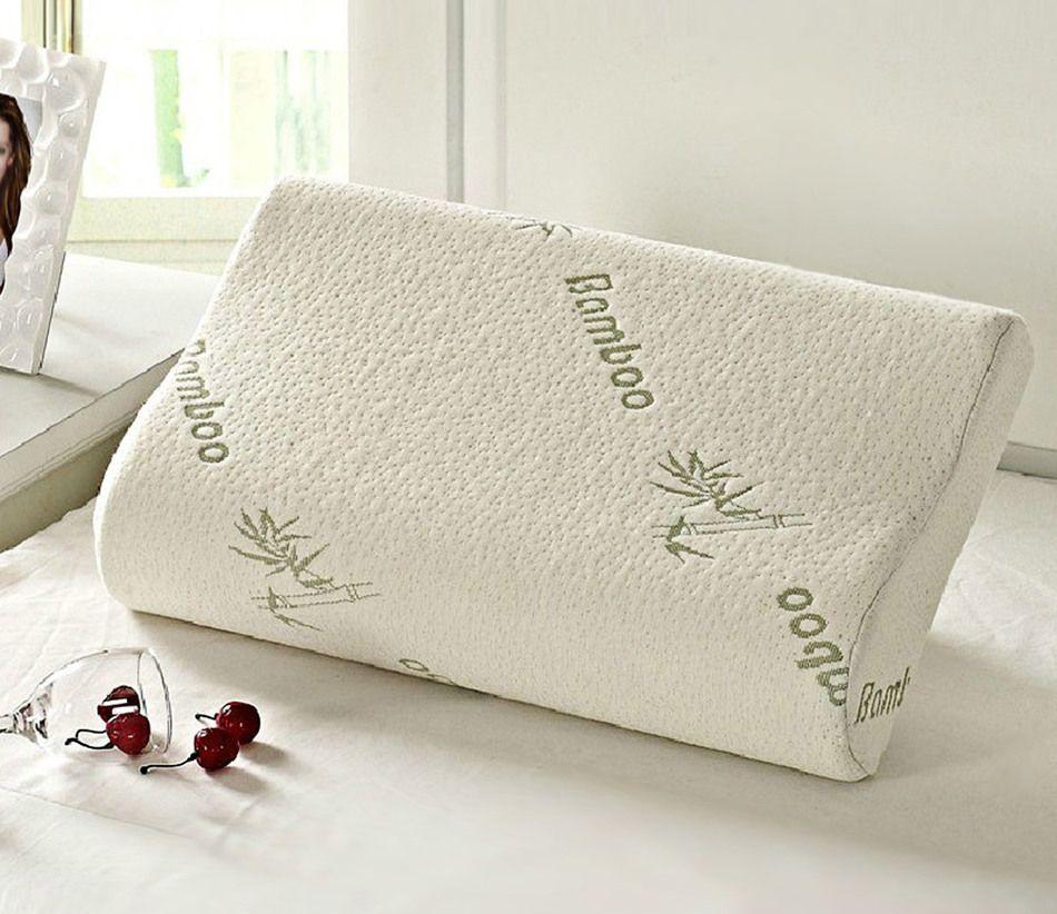 2017 Original Bamboo Fiber Pillow Slow Rebound Health Care Memory Foam Pillow Memory Foam Pillow Support The Neck Fatigue Relief