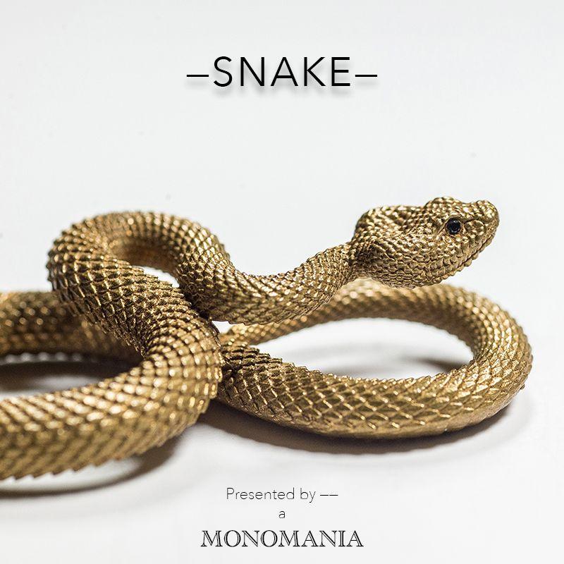 Coppertiste. Wu serpents bronze porte-clés en laiton à la main porte-clés or mode animal serpent porte-clés sac à main pendentif punk rock