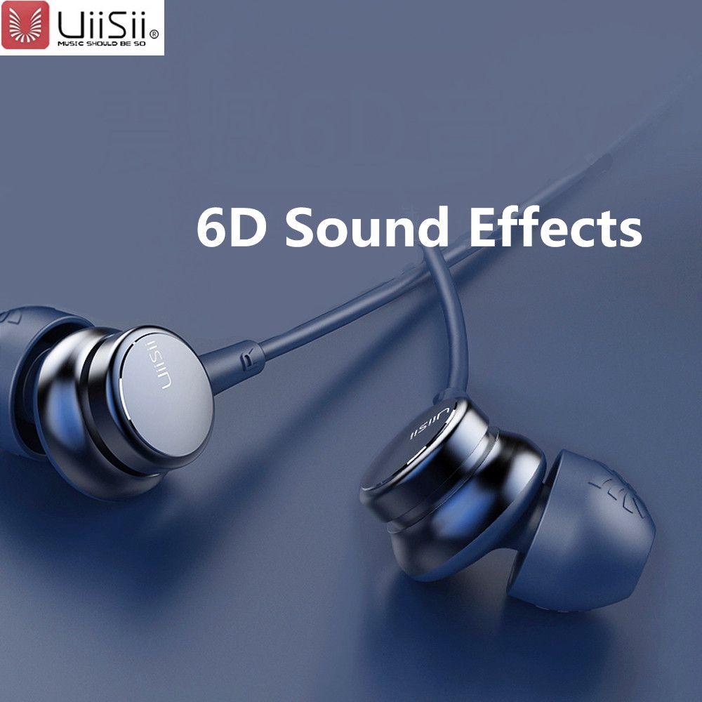 UiiSii HM7 HM9 écouteurs intra-auriculaires Super basse écouteur stéréo avec Microphone métal 3.5mm pour iPhone/Samsung téléphone Go pro MP3