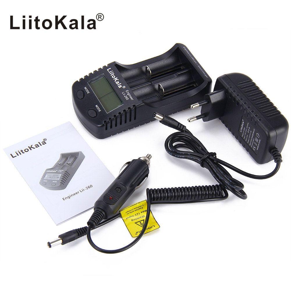 Liitokala lii-260 LCD18650/18500/16340/18350/14500/10440 Chargeur de Batterie, Détection de lithium 18650 batterie chargeur lii260