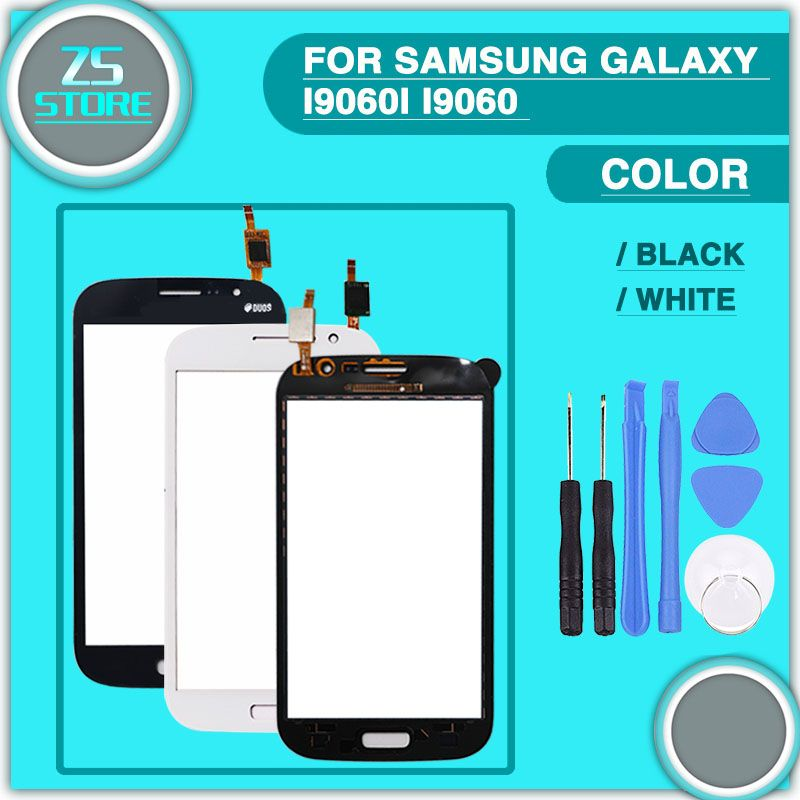 new i9060 Touch Screen For Samsung Galaxy Grand Neo Plus i9060i i9060 Touch Panel Digitizer Sensor Glass Lens + tool