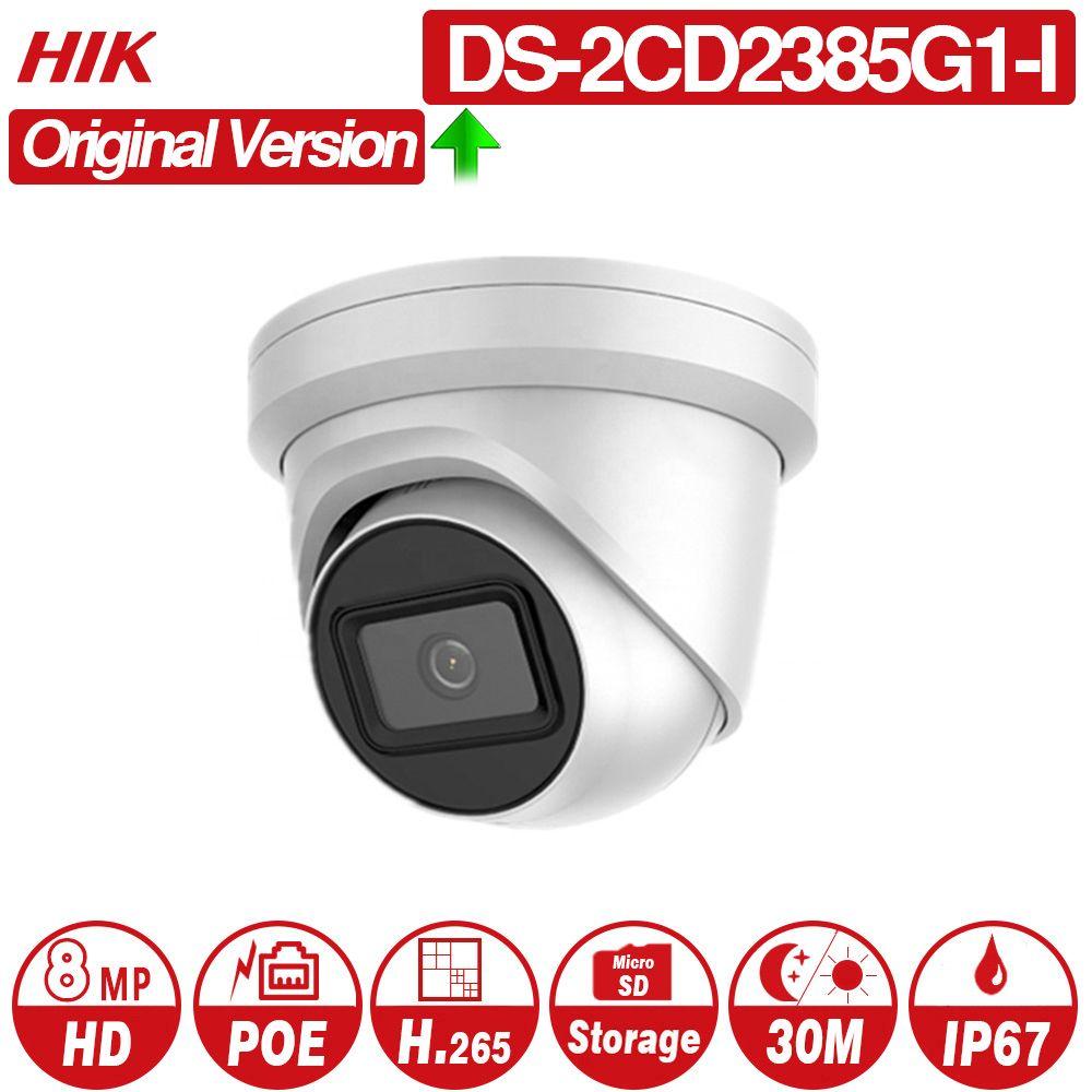 Hikvision Original IP Kamera DS-2CD2385G1-I 8MP Netzwerk CCTV Kamera H.265 CCTV Sicherheit POE WDR SD Card Slot