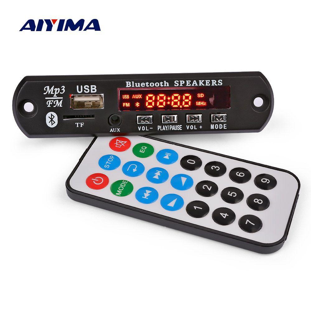 AIYIMA Bluetooth Amplificateur 15Wx2 MP3 Carte Décodeur Bluetooth 5.0 Récepteur WAV SINGE FLAC Décodage Audio USB TF FM AUXILIAIRE