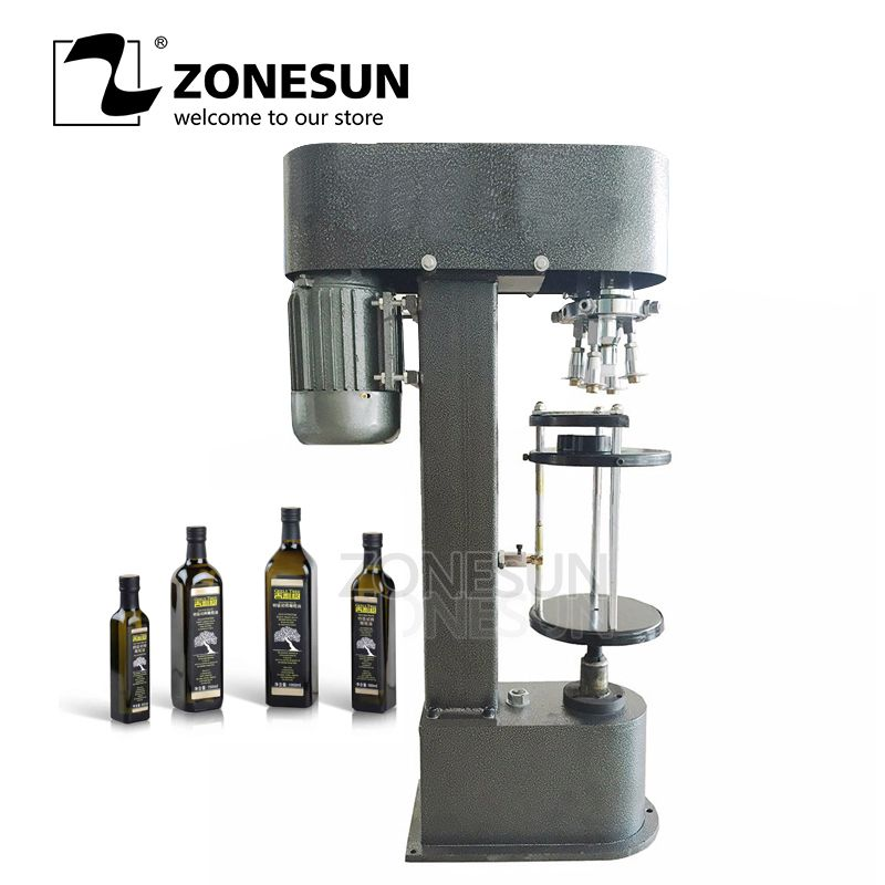 ZONEUN D-typ Metall Theft Proof Cap Locking Maschine Capping Maschine Einfache Bedienung Capper