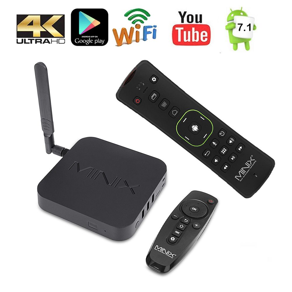 MINIX NEO U9-H + NEO A3 Smart TV BOX With Voice Input Air Mouse 64-bit Octa-Core Media Hub Android 7.1 2GB 4K HDR Smart TV BOX