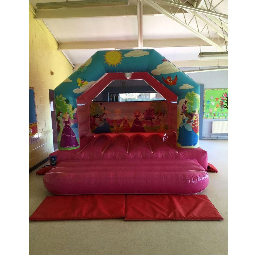 Aufblasbare bouncy haus prinzessin türsteher hüpfburg moonwalk für kinder verwendet outdoor und indoor spielplatz