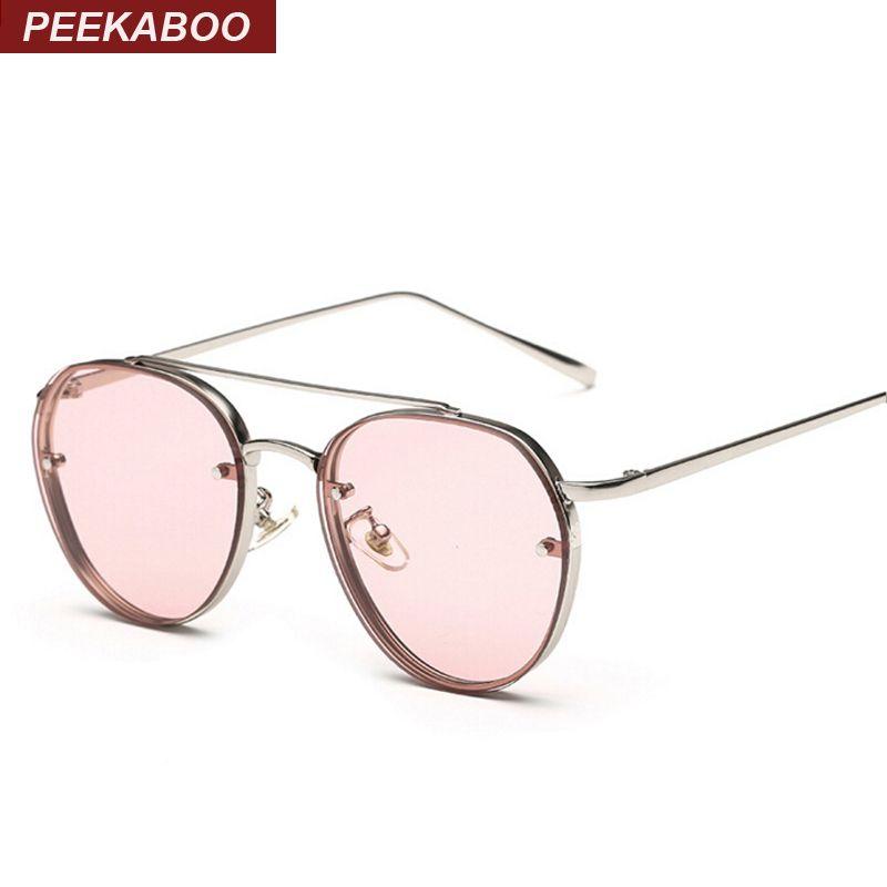 Peekaboo date jaune vert rose océan lunettes de soleil femmes mode été style vapeur punk métal lunettes de soleil hommes uv400 lentes de