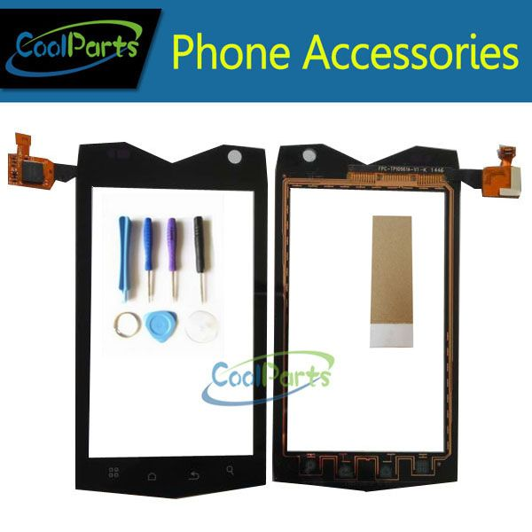 1PC/Lot High Quality For Texet TM-4082R TM-4104R X-driver 4.0Inch Touch Screen Digitizer Glass Panel With Tool&Tape Black Color