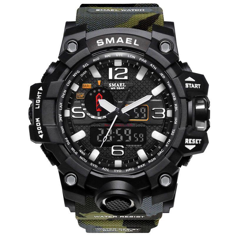 2017 Sport Men Digital Watch Men Led Dual Display Shockproof Waterproof WristWatch Wrist Army Male Relogio Masculino Hodinky 41