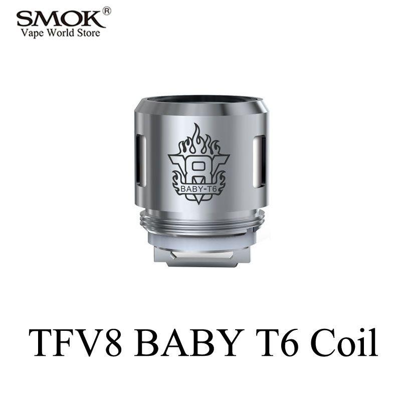 Electronic Cigarette Core SMOK TFV8 BABY Tank T6 Coil Alien G150 G320 G-Priv Al85 GX2/4 T-Priv Stick V8 Big BABY Tank Core S058