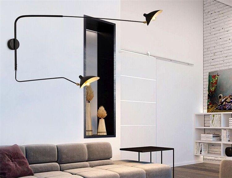 Moderne décoration 2 tête salon Serge Mouille mur lumière 2 Bras chambre duckbilled lumière salle à manger lumière livraison gratuite