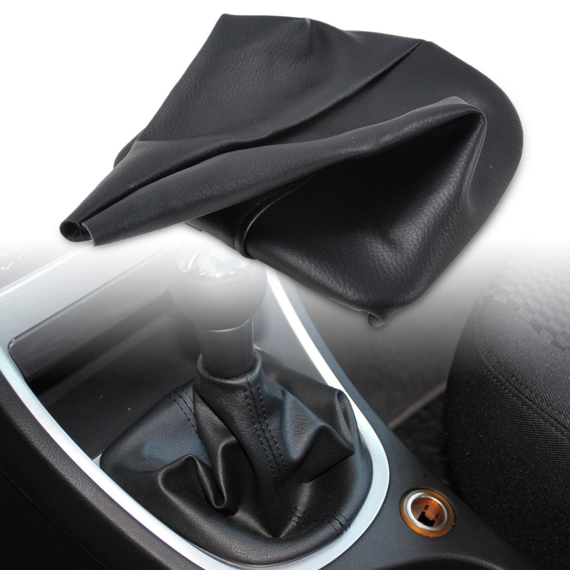 DWCX New Black PU Leather Gear Cover Gaiter For Peugeot 307 2001 2002 2003 2004 2005 2006 2007 2008