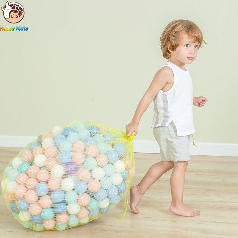 Happymaty 50 pièces lot écologique coloré balle en plastique océan balle drôle bébé enfant piscine d'eau vague boule 7cm