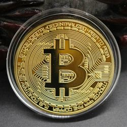 Oro caliente/plata plateado bitcoin monedas coleccionables regalo arte de la moneda BTC bitcoin física monedas oro nave de la gota