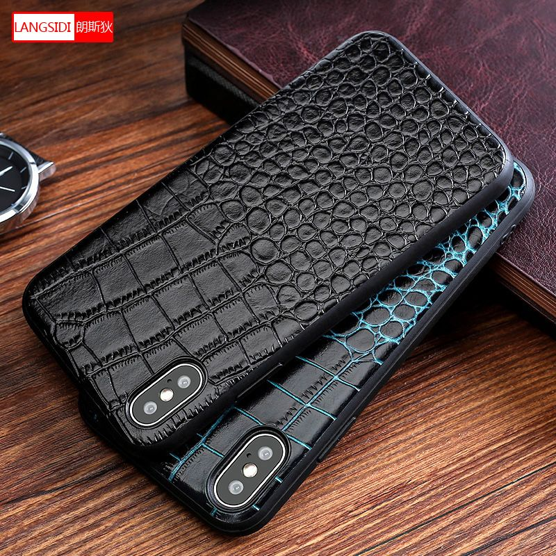 Cowhide All inclusive protection case for iPhone case 7 X XS XSMax XR 8 6splus 6 plus luxurious Anti-fall protective case