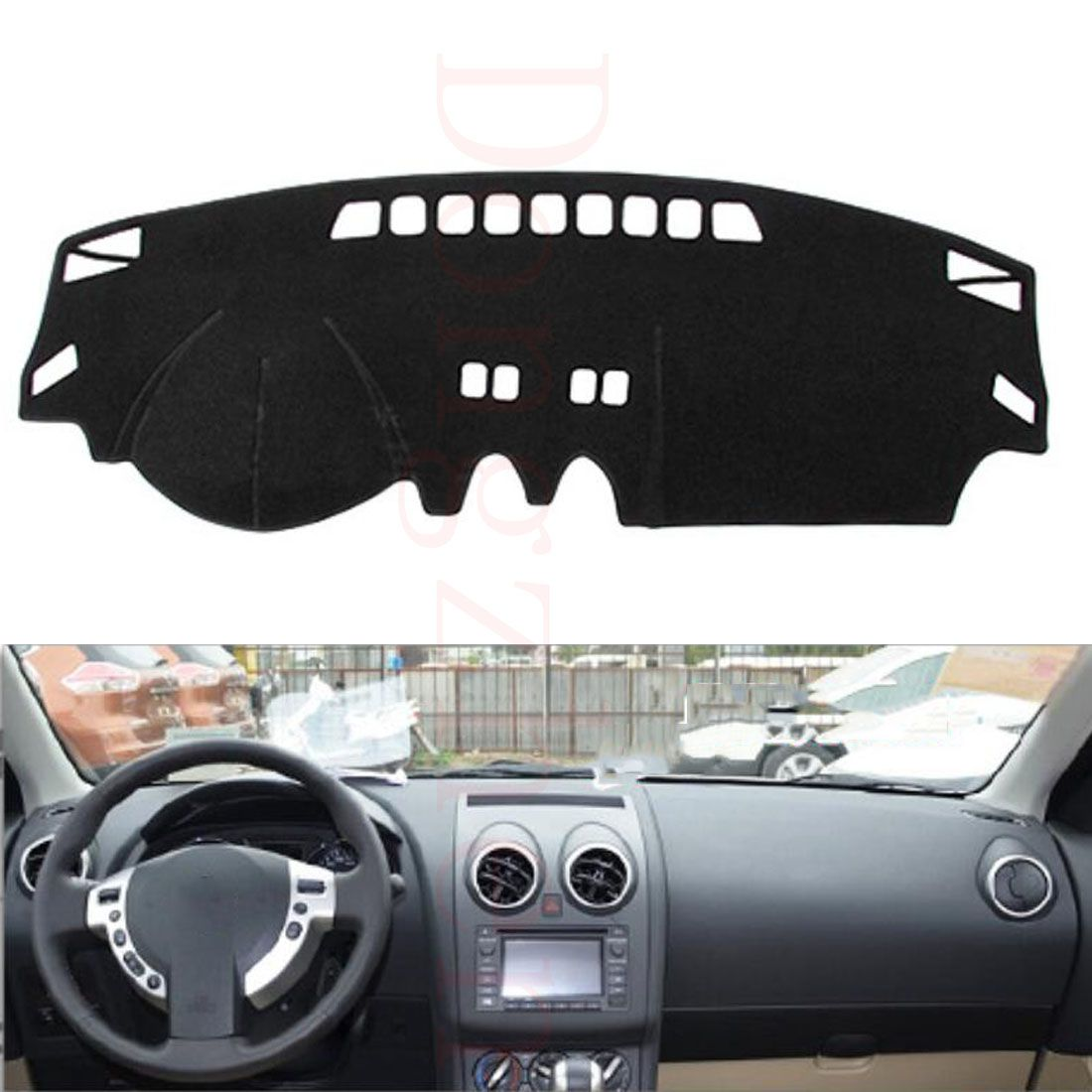 Dongzhen Fit For Nissan Qashqai 2008-2015 Car Dashboard Cover Avoid Light Pad Instrument Platform Dash Board Cover