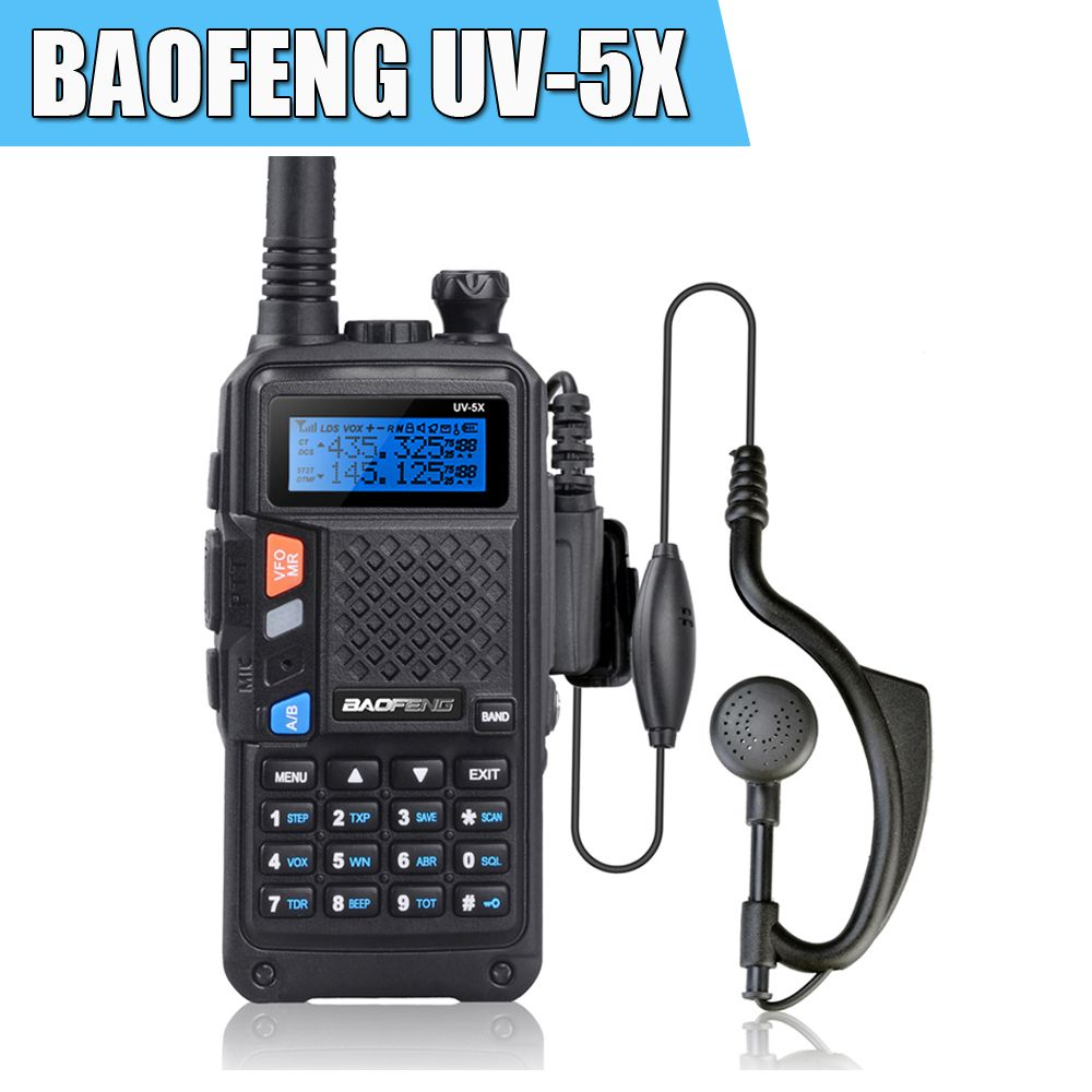 BAOFENG UV-5X D'origine Version Améliorée de UV-5R UHF + VHF Radio Bidirectionnelle Talkie Walkie W/Original Carte Principale P0015842