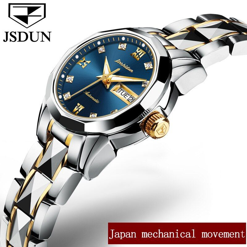 JSDUN Luxury Women Mechanical Wristwatch Cute Ladies Watch Clock Week/Date Top Brand Automatic Watches relogio feminino L8813