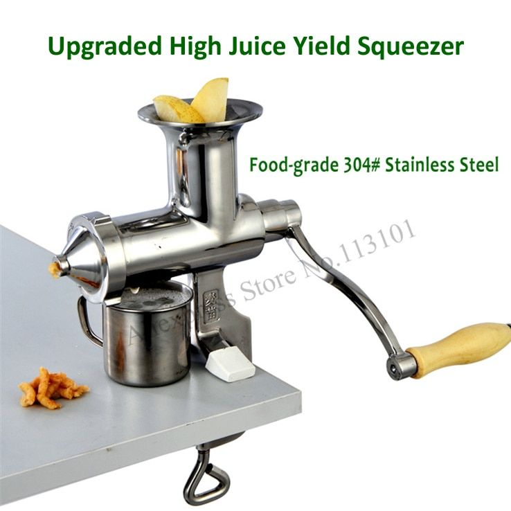 Juice Extractor Stainless Steel Juicer Squeezer Hand-operated Food Tool Upgraded Manual Juice Presser with High Juice Yield